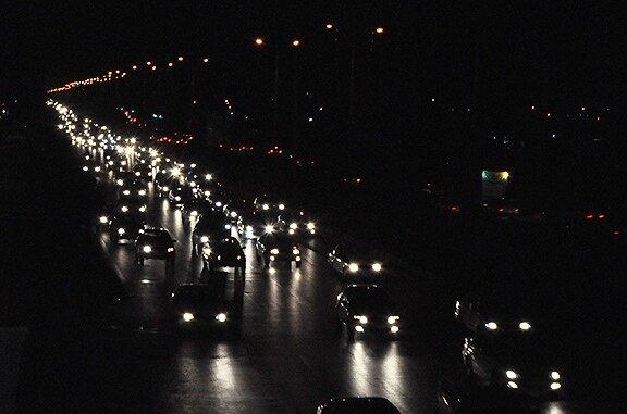 ترافیک سنگین در محور چالوس و آزادراه کرج - تهران