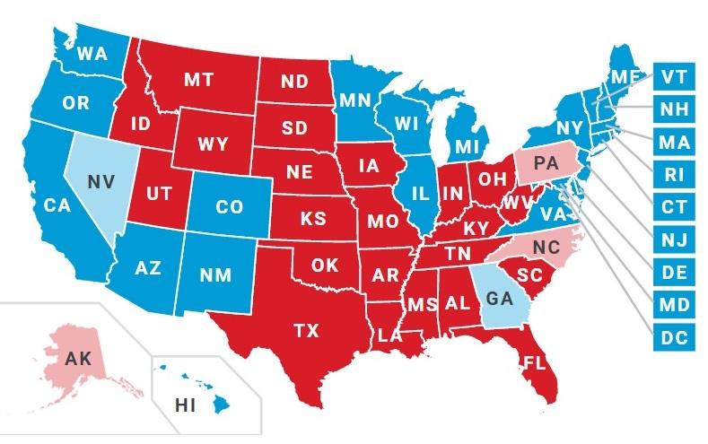 بررسی وضعیت آراء در انتخابات ریاست جمهوری امریکا + ویدیو