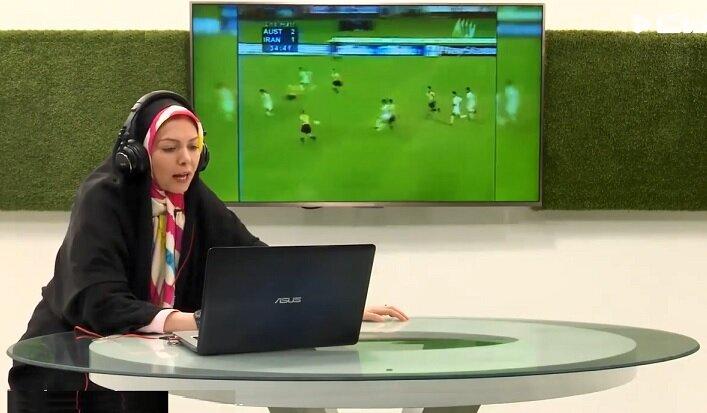 گزارش فوتبال توسط زنده یاد آزاده نامداری + ویدیو