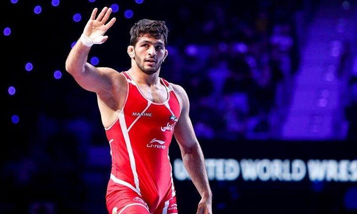 پیروزی قهرمان المپیک در نخستین مبارزه