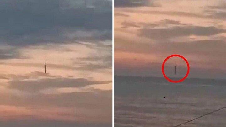 سقوط شیء مرموز و ناشناخته در دریای اندونزی + ویدیو