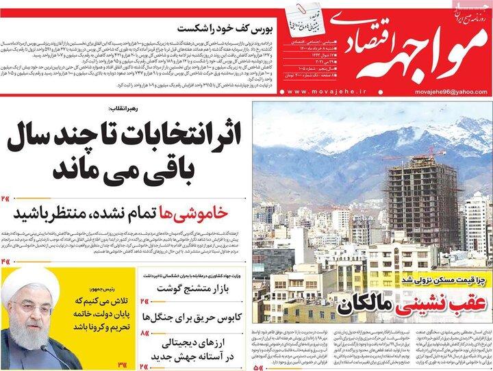 روزنامه اقتصادی 8 خرداد 1400