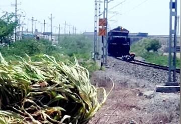 صحنه دلهره آور گرفتار شدن اسکوترسوار روی ریل راه آهن + ویدیو