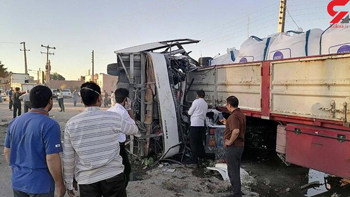 ۵ کشته در تصادف اتوبوس حامل سربازان بعد از اتوبوس خبرنگاران !