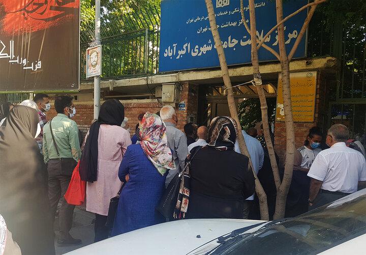 صف ۷کیلومتری واکسن در تهران! + فیلم