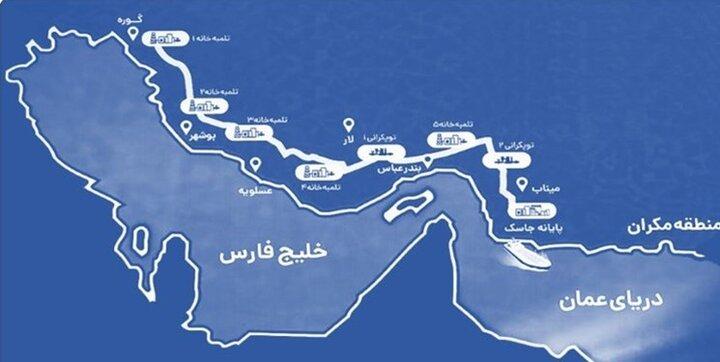 احداث ایرانیترین خط لوله انتقال نفت در دل تحریمها/ در مراسم افتتاح خط لوله گوره-جاسک چه گذشت؟