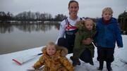 استقبال بینظیر کوچولوها  از مادر قهرمان المپیک+فیلم