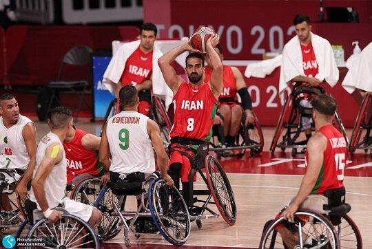 برتری تیم ملی بسکتبال ایران مقابل الجزایر در پارالمپیک توکیو ۲۰۲۰
