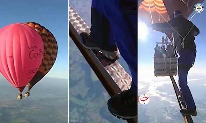 بازنشر | راه رفتن بین دو بالن در ارتفاع ۶۵۰۰ متری! + فیلم