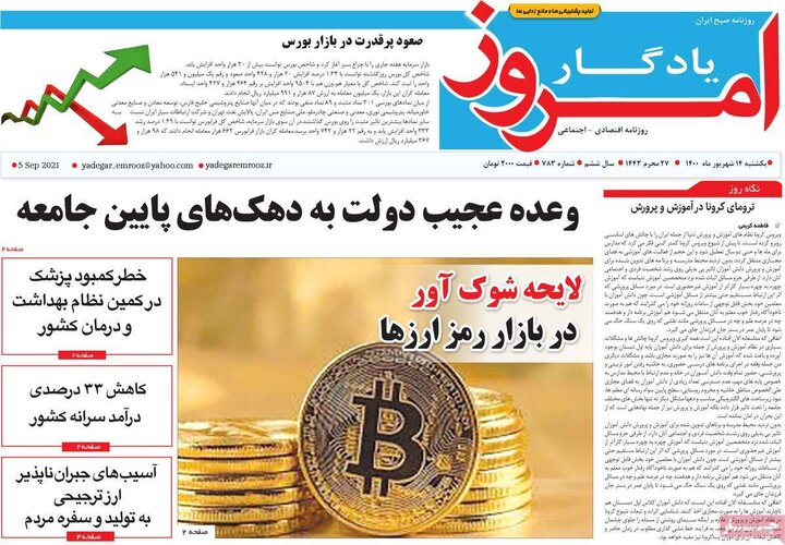 روزنامههای اقتصادی - یکشنبه ۱۴ شهریور ۱۴۰۰