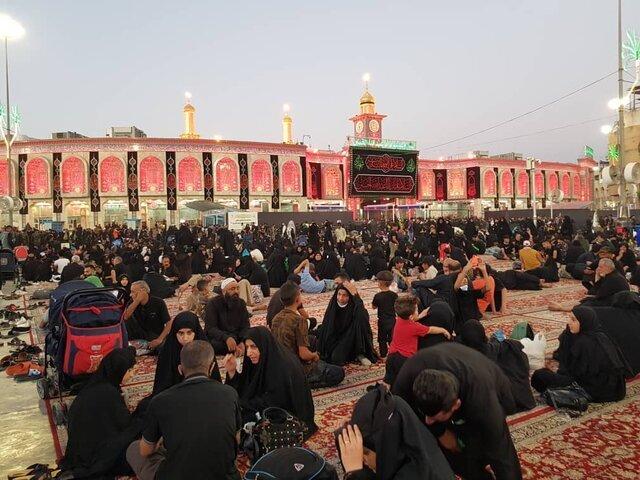 گوشهای از اربعین ۱۴۰۰ در عراق