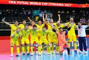 گزارش فیفا از بازی تیم ملی فوتسال ایران با قزاقستان