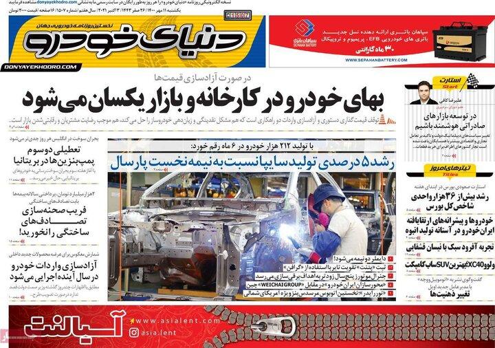روزنامههای اقتصادی - یکشنبه ۱۱ مهر ۱۴۰۰