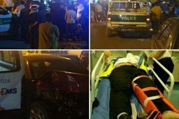 تصادف عجیب در جاده تهران - فیروزکوه | واژگون شدن آمبولانس روی جمعیت تماشاچی | ۱۲ نفر زخمی شدند