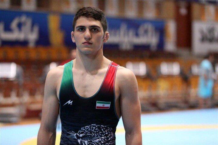 چشمک مدال طلا به نخودی / مصاف کشتیگیر ایران با باروز + ویدیو