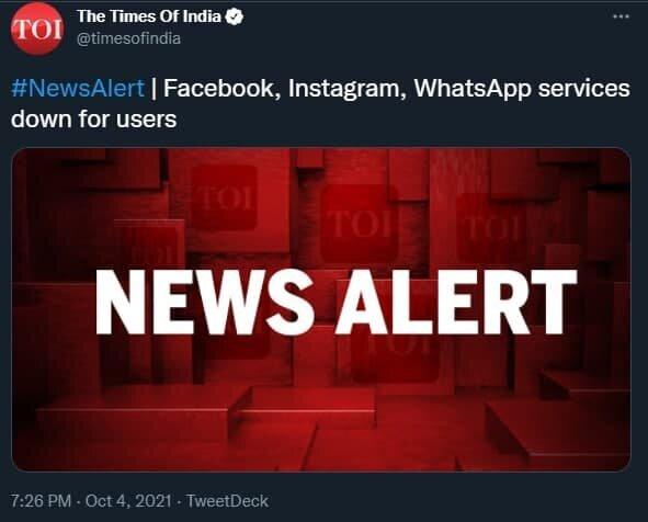 اختلال جهانی در واتساپ، اینستاگرام و فیسبوک