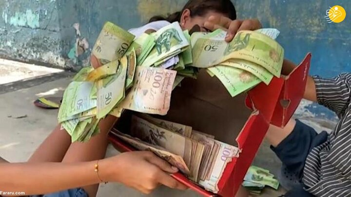 ببینید ا کاربرد عجیب اسکناس در ونزوئلا؛ بازی مونوپولی و کاردستی!